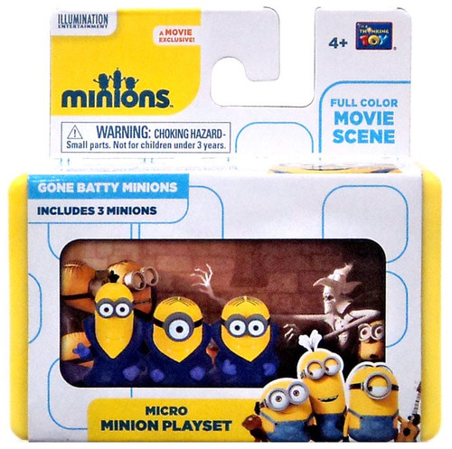 Despicable Me Minions Movie Gone Batty Minions 2-Inch Micro Playset