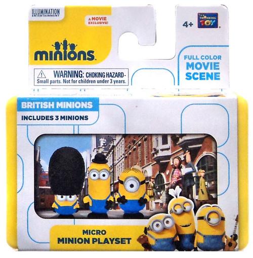 Despicable Me Minions Movie British Minions 2-Inch Micro Playset