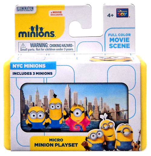 Despicable Me Minions Movie NYC Minions 2-Inch Micro Playset