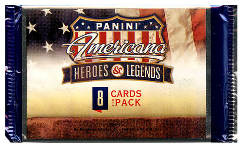 Americana Panini Heroes & Legends Trading Card Pack [8 Cards!]