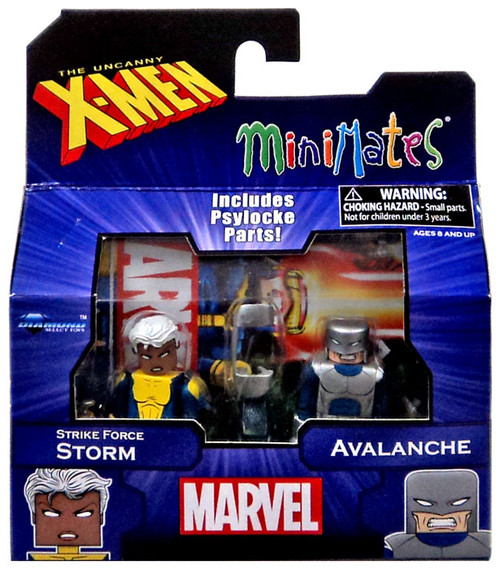 Marvel X-Men Vs. Brotherhood Minimates Series 60 Strike Force Storm & Avalanche Minifigure 2-Pack