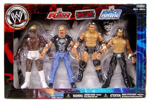 WWE Wrestling Exclusives RAW, ECW & Smackdown Superstars Exclusive Action Figure 4-Pack [Set #2, Damaged Package]