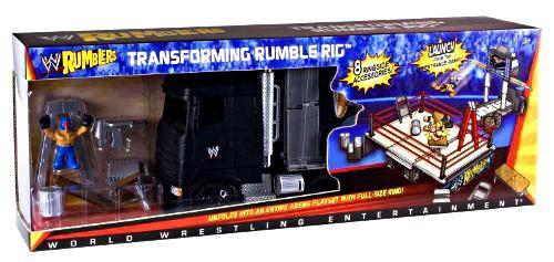WWE Wrestling Rumblers Series 1 Transforming Rumble Rig Exclusive Mini Figure Playset [Damaged Package]