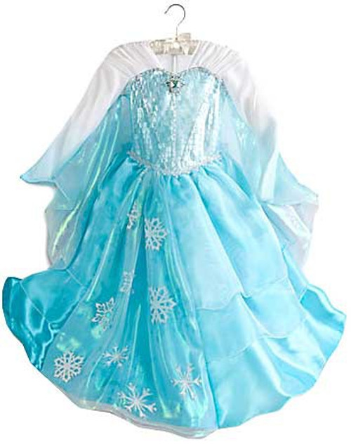 Disney Frozen Elsa Winged Sleeve Dress Exclusive Dress Up Toy [Size 3]