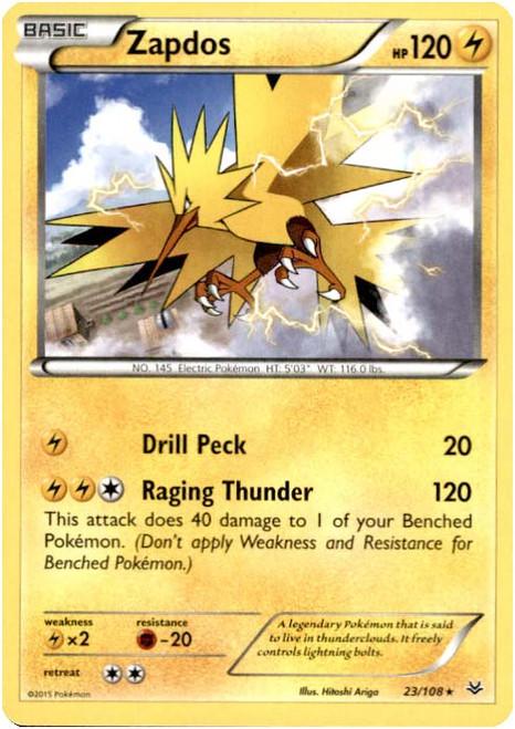 Pokemon X & Y Roaring Skies Rare Zapdos #23