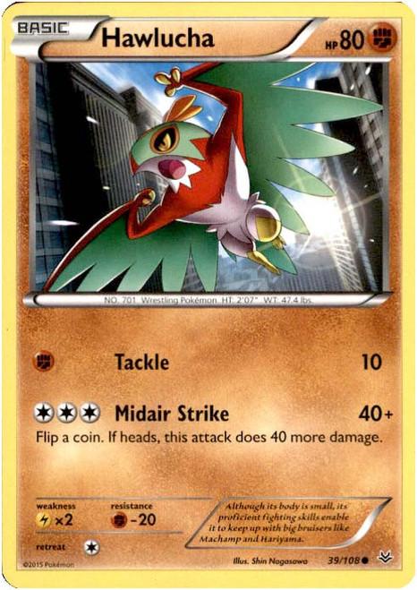 Pokemon X & Y Roaring Skies Common Hawlucha #39