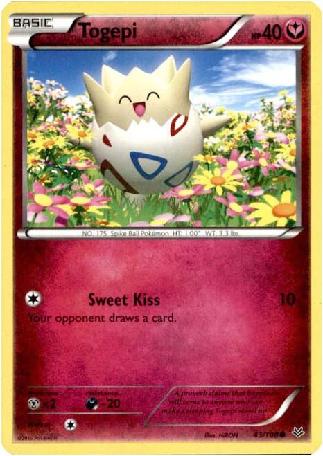 Pokemon X & Y Roaring Skies Common Togepi #43