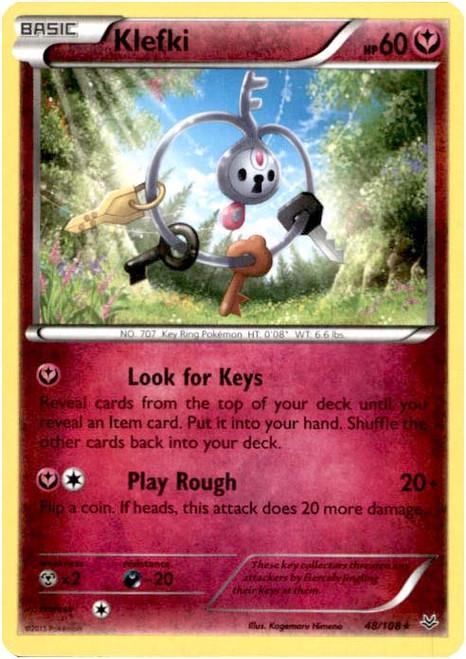 Pokemon X & Y Roaring Skies Rare Klefki #48