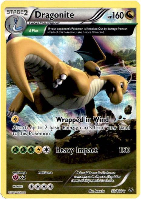 Pokemon X & Y Roaring Skies Rare Holo Dragonite #52