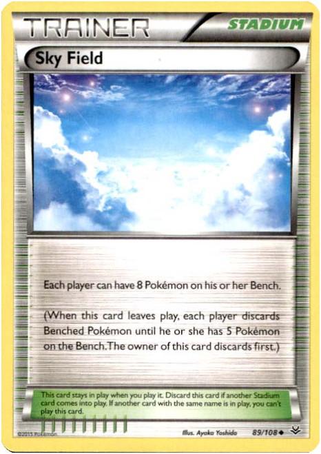 Pokemon X & Y Roaring Skies Uncommon Sky Field #89