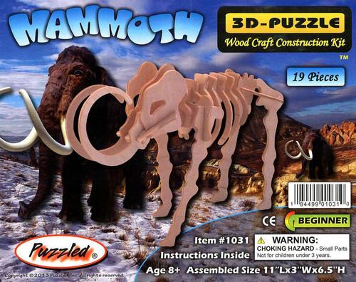 3D-Puzzle Wood Construction Kit Mammoth Puzzle #1031
