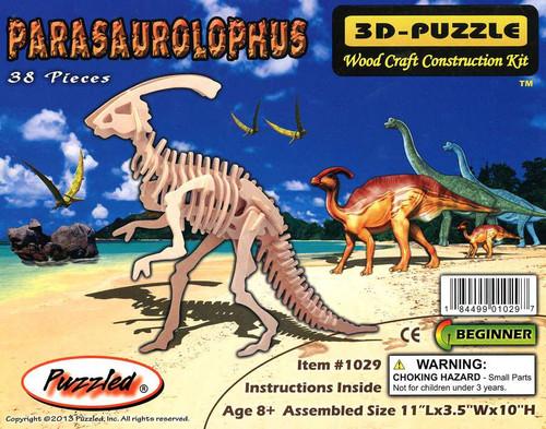 3D-Puzzle Wood Construction Kit Parasaurolophus Puzzle #1029 [38 Pieces]