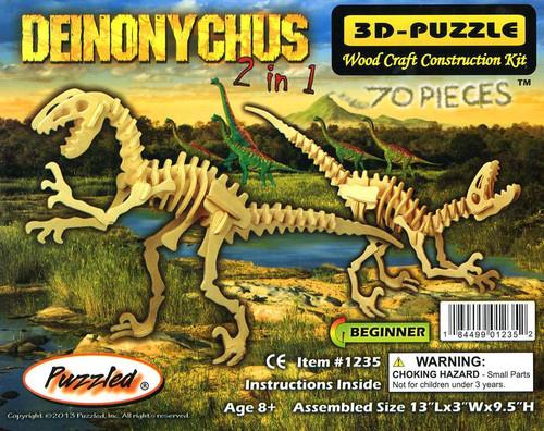 3D-Puzzle Wood Construction Kit Deinoychus Puzzle #1235 [2 in 1]