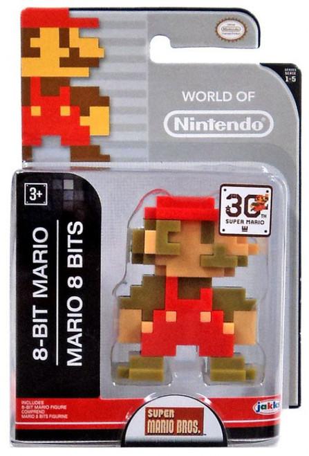 World of Nintendo Super Mario Bros. 8 Bit Mario 2.5-Inch Mini Figure [Version 1]