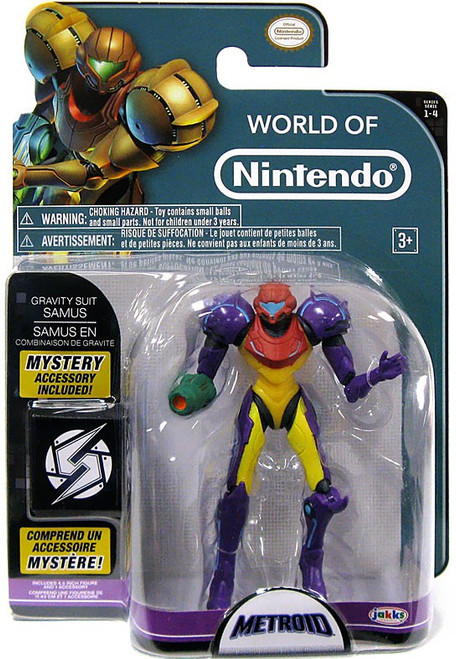 World of Nintendo Series 4 Samus Gravity Suit Action Figure [With Power Ball]