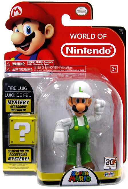 World of Nintendo Series 4 Fire Luigi Action Figure [With Fire Flower]