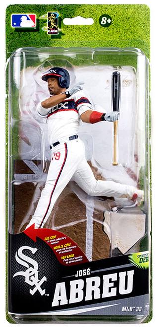 McFarlane Toys MLB Chicago White Sox Sports Picks Series 33 Jose Abreu Action Figure [Alternate Home Uniform]