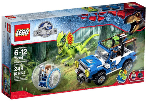 LEGO Jurassic World Dilophosaurus Ambush Set #75916