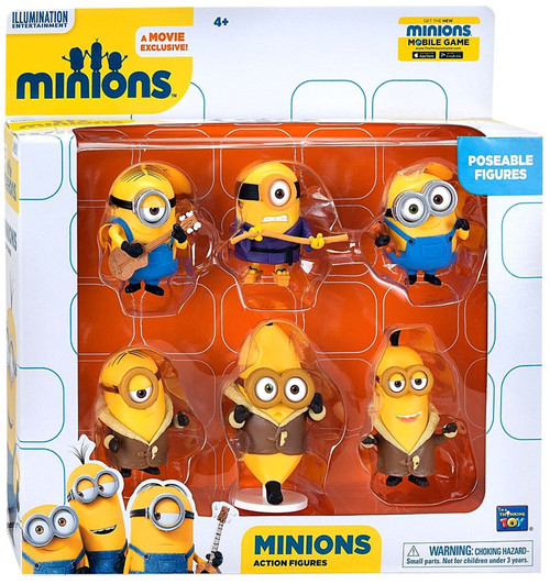 Despicable Me Minions Movie Minions Action FIgure 6-Pack