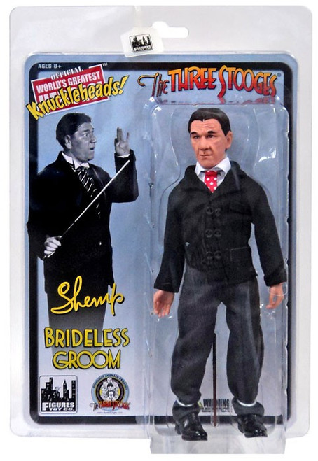 The Three Stooges Brideless Groom Shemp Action Figure