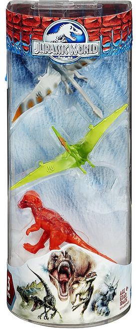 Jurassic World Dinos Dimorphodon, Pteranodon & Pachycephalosaurus 3-Inch Mini Figure 3-Pack [RANDOM Colors]