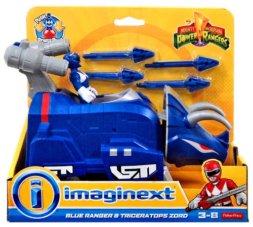 Fisher Price Power Rangers Imaginext Mighty Morphin Blue Ranger & Triceratops Zord Figure Set [Mighty Morphin]