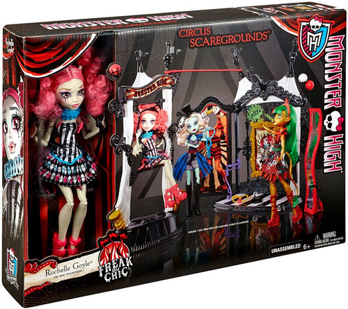 Monster High Freak Du Chic Circus Scaregrounds Doll Playset [Rochelle Goyle]