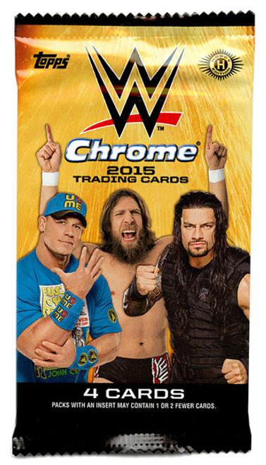 WWE Wrestling Topps 2015 Chrome Trading Card HOBBY Pack [4 Cards]