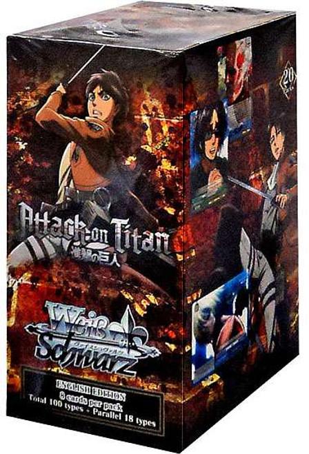Weiss Schwarz Attack on Titan Booster Box [20 Packs]