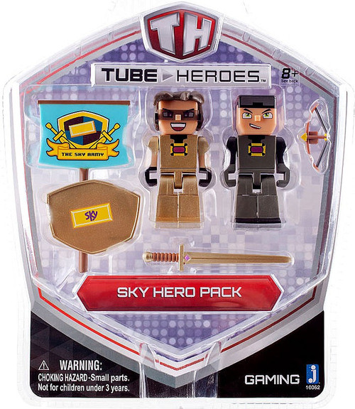 Tube Heroes Sky Hero Pack Action Figure 2-Pack