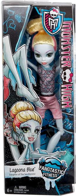 Monster High Fangtastic Fitness Lagoona Blue 10.5-Inch Doll