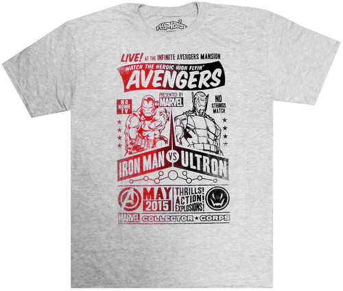 Marvel Avengers Iron Man vs. Ultron Exclusive T-Shirt [X-Large]