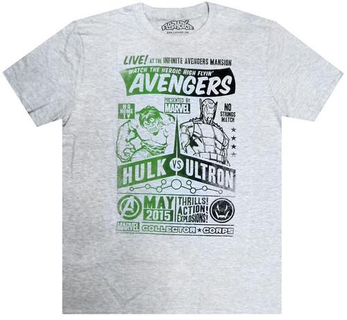 Marvel Avengers Hulk vs. Ultron Exclusive T-Shirt [2X-Large]