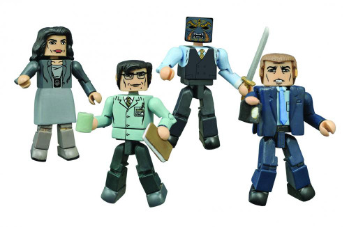 DC Minimates Series 1 Gotham 2-Inch Minifigure Set [Jim Gordon, Sarah Essen, Edward Nygma & Black Mask]