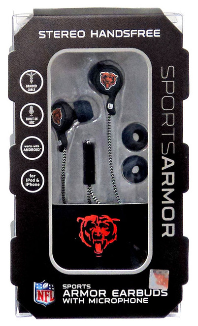 NFL Sports Armor Chicago Bears Earbuds [with Microphone]