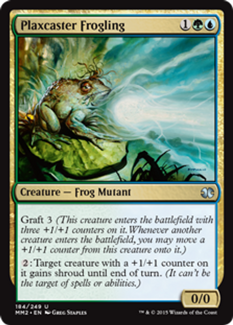 MtG Modern Masters 2015 Uncommon Plaxcaster Frogling #184