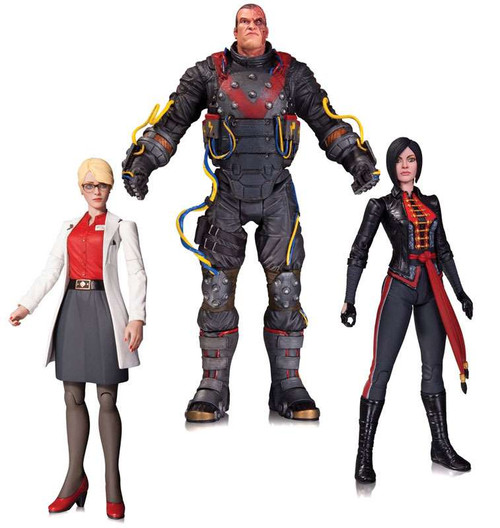 Batman Arkham Origins Dr. Harleen Quinzell, Electrocutioner & Lady Shiva Action Figure 3-Pack