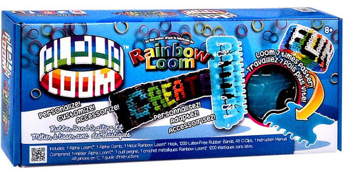 Rainbow Loom Alpha Loom Rubber Band Crafting Kit