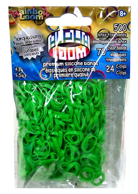 Rainbow Loom Alpha Loom Lime Green Rubber Bands Refill Pack [500 Count]