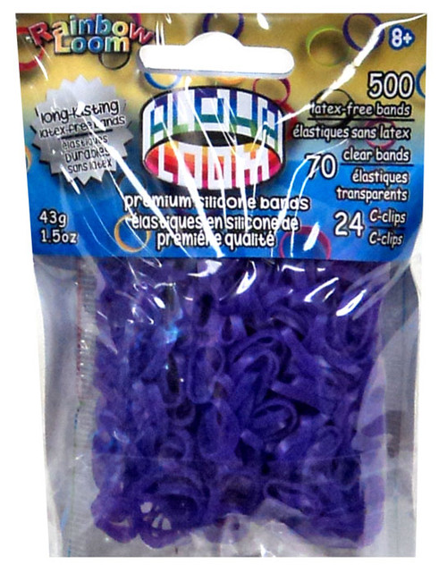 Rainbow Loom Alpha Loom Purple Rubber Bands Refill Pack [500 Count]