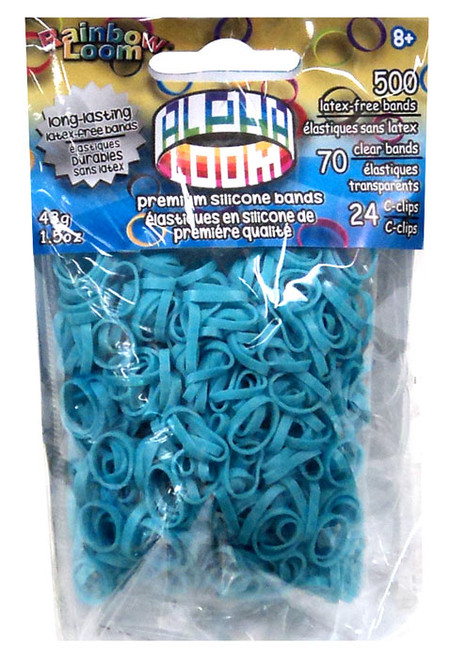 Rainbow Loom Alpha Loom Turquoise Rubber Bands Refill Pack [500 Count]