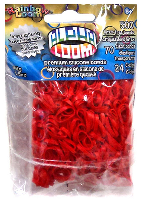 Rainbow Loom Alpha Loom Red Rubber Bands Refill Pack [500 Count]
