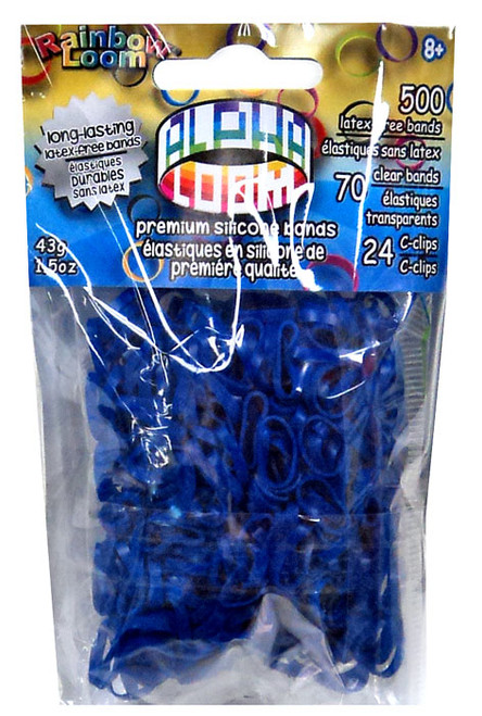 Rainbow Loom Alpha Loom Navy Blue Rubber Bands Refill Pack [500 Count]