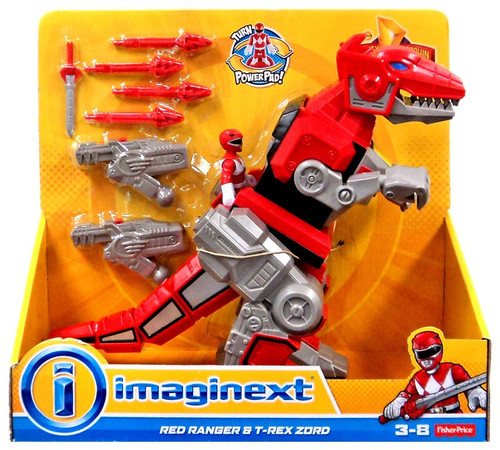 Fisher Price Power Rangers Imaginext Mighty Morphin Red Ranger & T-Rex Zord Figure Set