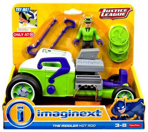 Fisher Price DC Super Friends Imaginext The Riddler Hot Rod Exclusive 3-Inch Figure Set [Justice League]