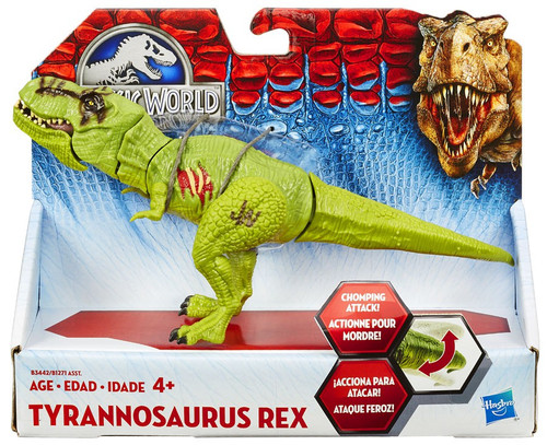 Jurassic World Bashers & Biters Tyrannosaurus Rex Action Figure [Green]