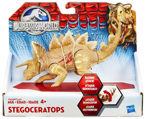 Jurassic World Bashers & Biters Stegoceratops Action Figure [Tan]