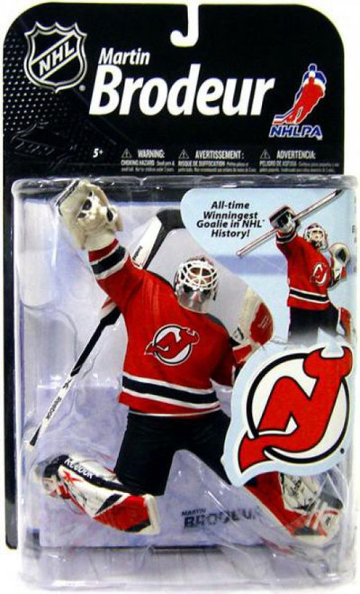 McFarlane Toys NHL New Jersey Devils Sports Picks Series 22 Martin Brodeur Action Figure [Red Jersey, Damaged Package]