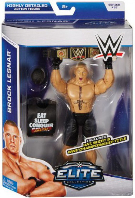 WWE Wrestling Elite Collection Series 37 Brock Lesnar Action Figure [Hat, Shirt & WWE Championship Title]