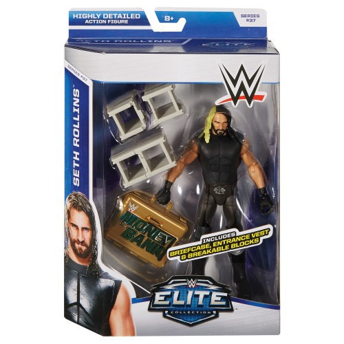 WWE Wrestling Elite Collection Series 37 Seth Rollins Action Figure [Briefcase, Entrance Vest & Breakable Blocks]